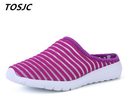 TOSJC 2018 w nowym stylu kobieta lekkie kapcie antypoślizgowe buty w stylu casual Lady buty różowy kolor letnie obuwie 9 w Kapcie od Buty na  Grupa 1