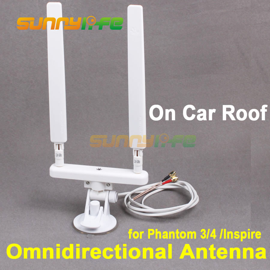 Phantom 3 4 Inspire Image Transmission Omnidirectional Antenna on Car Roof with Support Antenna Combo for