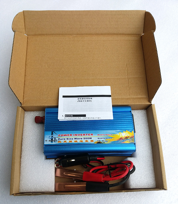 цена на 500W WATT DC 12V to AC 220V pure sine wave Portable Car Power Inverter Converter Transformer