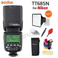 Godox TT685N 2,4G Беспроводной вспышка для фотокамер Speedlite HSS 1/8000 s i ttl GN60 Вспышка Speedlite для Nikon для D800 D700 D7100 D7000 D5200 D5000 D810 + Gif