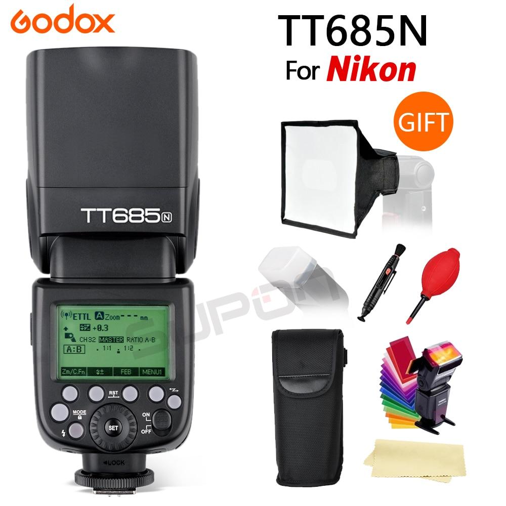 Godox TT685N 2.4g Sans Fil HSS 1/8000 s je-TTL GN60 Speedlite Flash pour Nikon pour D800 d700 D7100 D7000 D5200 D5000 D810 + Gif