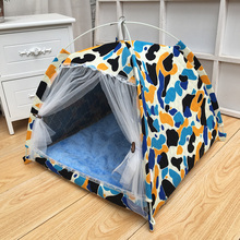 Mezzanine cotton dog tent soft and warm pet nest bracket comfortable kennel convenient cleaning