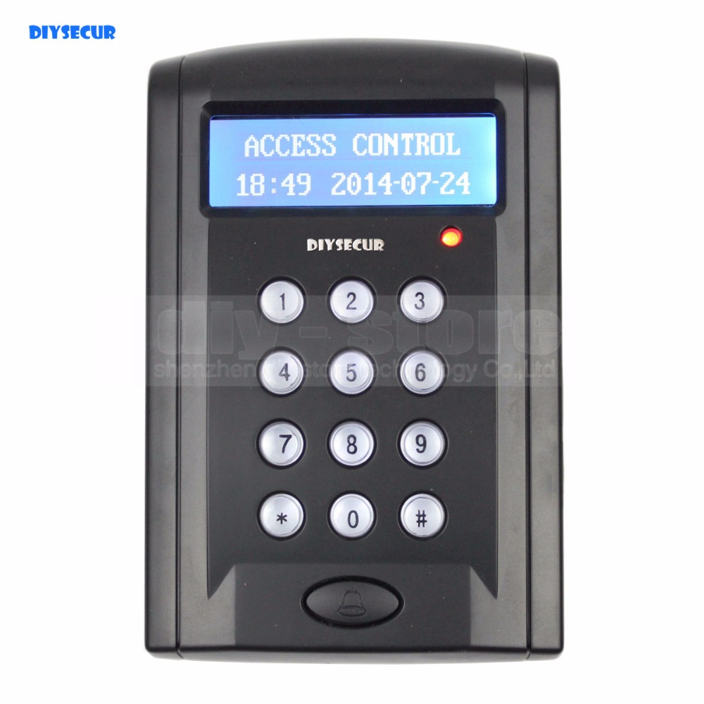 DIYSECUR LCD Economic Door Rfid Proximity Reader Access Control Keypad With Door Bell Button +10 ID Keyfobs BC200 diysecur lcd economic door rfid proximity reader access control keypad 10 id keyfobs brand new