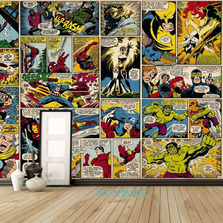 Online buy wholesale spider man wallpapers from china for Comic book wallpaper mural