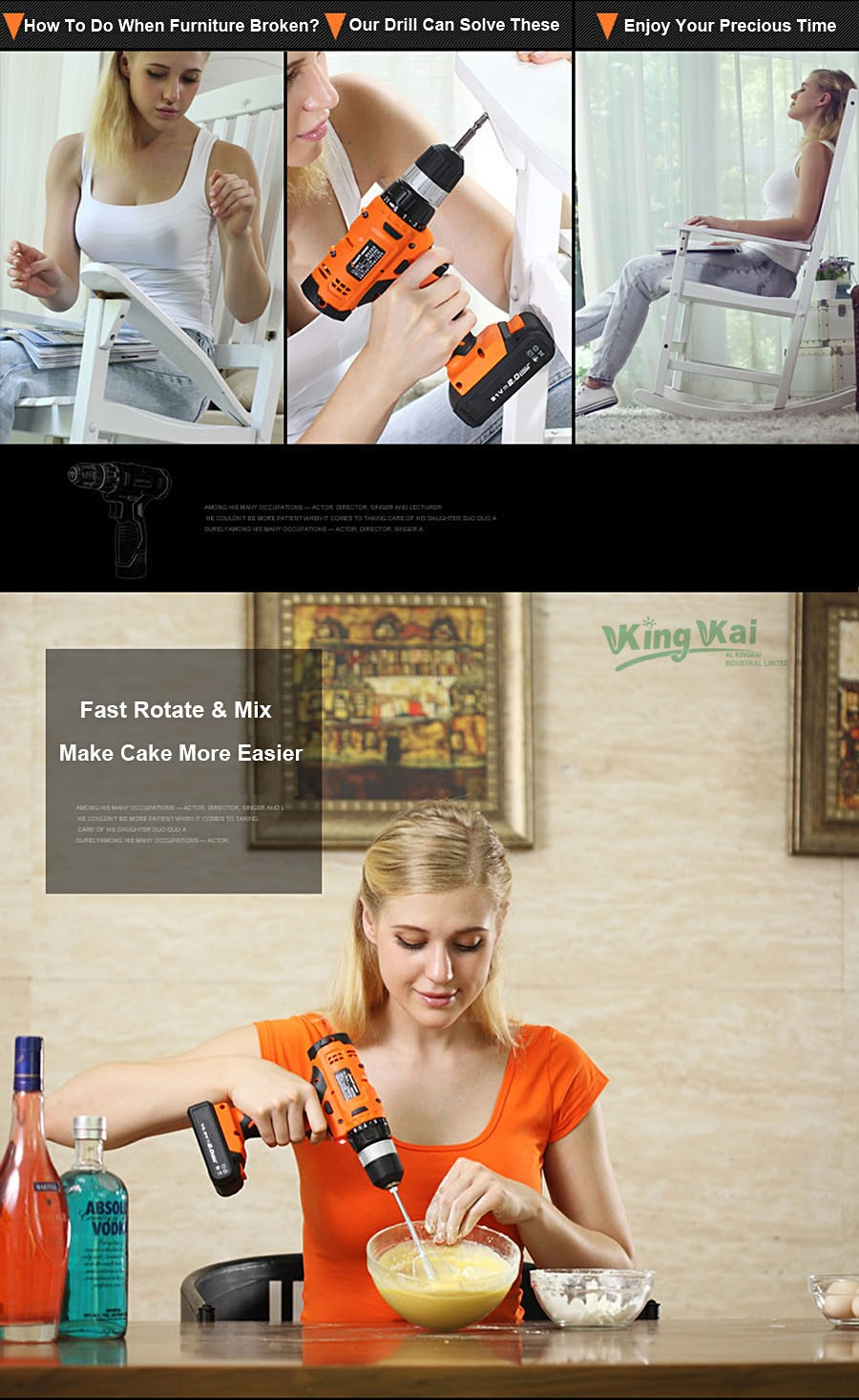 Cordless Lithium Battery Electric Drill-09