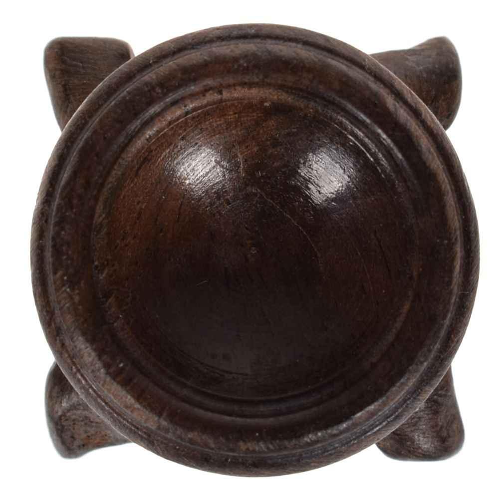 Podstawa stojaka z czarnego drewna do kryształowej kuli kula z kamienia