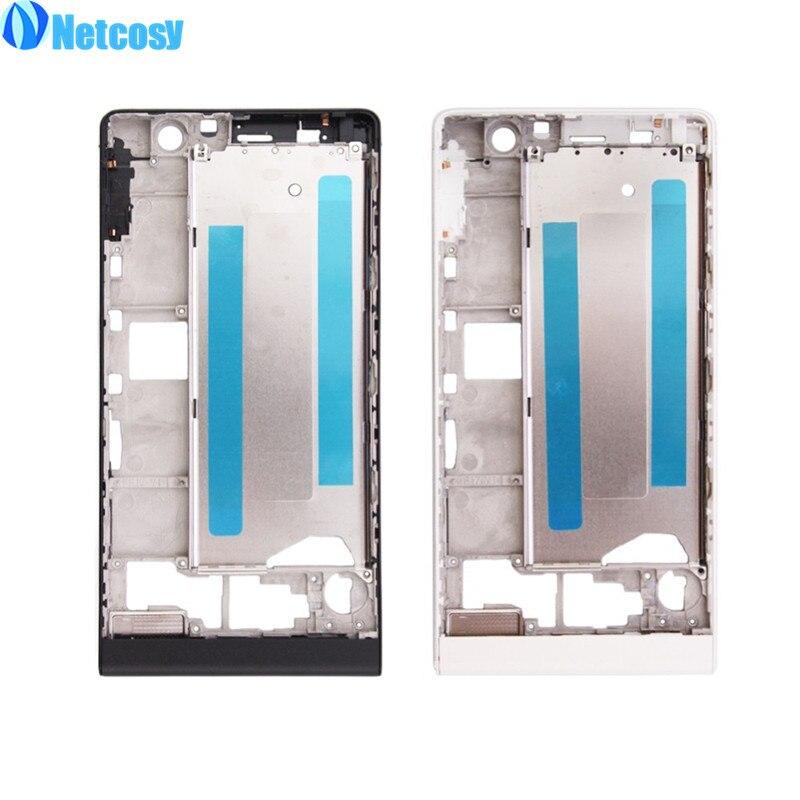 Netcosy Mi Moyen Cadre Remplacement pour HuaWei Ascend P6 Full Frame Logement Moyen Lunette Conseil Téléphone Accessoires Pièces De Rechange