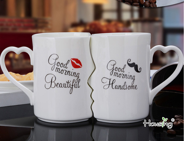 Couple Cup Ceramic Coffee Kiss Mug