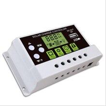 New LCD PWM USB Solar Panel Battery Regulator Charge Controller 12/24V