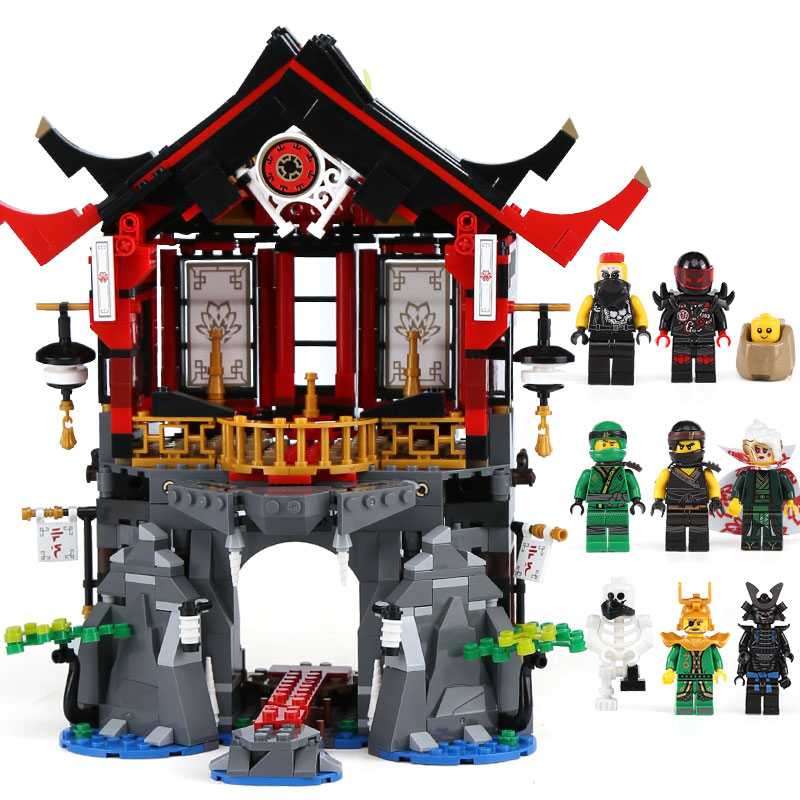 Lepin 06078 Ninja Toys Series The 70643 Temple of Resurrection Set Building Blocks Bricks New Kids Toys Christmas Birthday Gift new 1628pcs lepin 07055 genuine series batman movie arkham asylum building blocks bricks toys with 70912 puzzele gift for kids