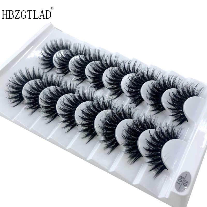 HBZGTLAD 2/5 paires de faux cils naturels faux cils long maquillage 3d vison cils extension de cils vison cils pour la beauté 03
