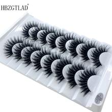 HBZGTLAD 2/5 pairs doğal yanlış eyelashes takma kirpik uzun makyaj 3d vizon kirpiklere takma kirpik vizon kirpik güzellik için 03