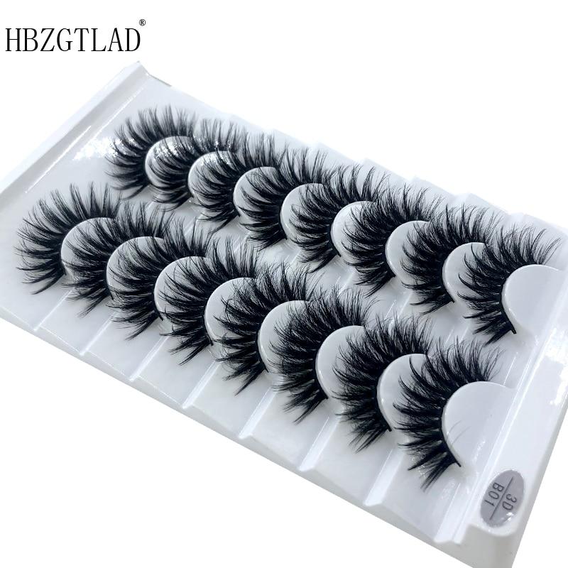 New 5 /8 pairs natural false eyelashes fake lashes long makeup 3d mink lashes eyelash extension mink eyelashes for beauty 03(China)