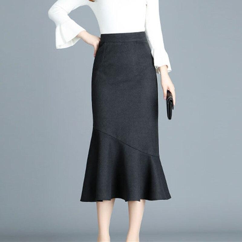 Новое поступление осень-зима Для женщин Мода Высокая Талия чёрный; коричневый Цвет бедра ...