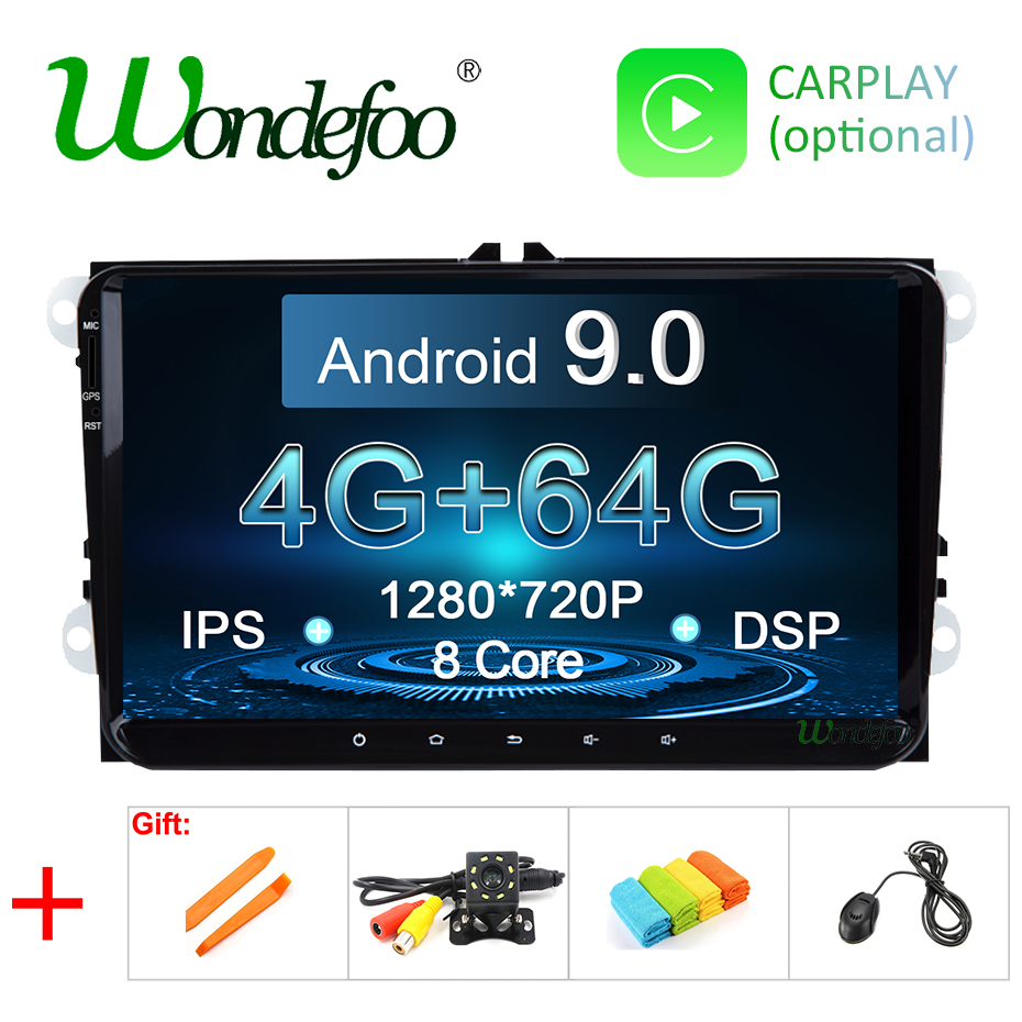 IPS DSP 1din Android 9 0 4G 64G GPS Radio for VW PASSAT B6 B7 V7