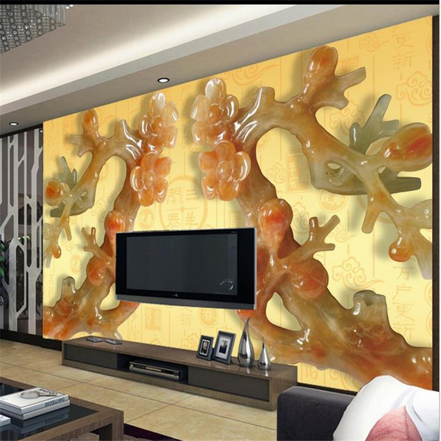 US $9 45 37% OFF beibehang 3D living room TV backdrop wallpaper Chinese  large video wall mural bedroom murals customization wallpaper-in Wallpapers