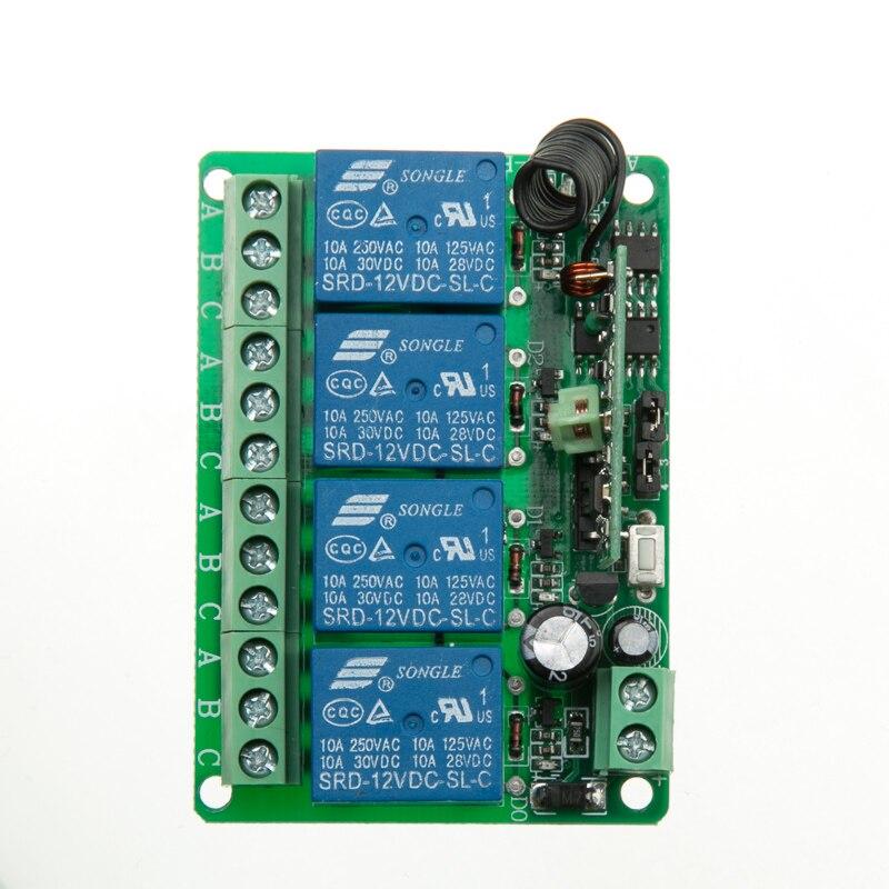 Relé de $ NUMBER CANALES DC12V 10A RF Sistema de Interruptor de Control Remoto I