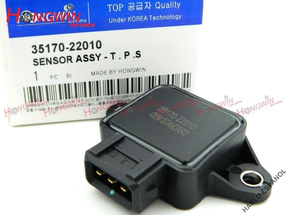 35170 22010 TPS Sensore della Valvola A Farfalla Sensore di Posizione Adatta Hyundai Elantra Tiburon Coupe Accent SAAB VOLVO 1993-2001, 3517023000