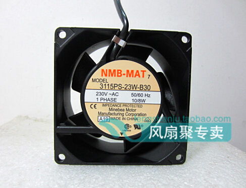 New original NMB MAT 3115PS 23W B30 8cm8038 230V80*80*38MM aluminum frame cooling fan