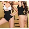 Ladies Sexy Body Shaper Desgaste Caliente Shapers Underbust Bodysuit Cremallera Negro Ropa Interior de Encaje fajas reductoras Adelgaza Faja