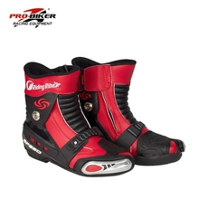 Free transport 1pair Professional Motorcycle Offroad Sport Motorbike MX GP Racing Leather Motorcycle Boots Shoes