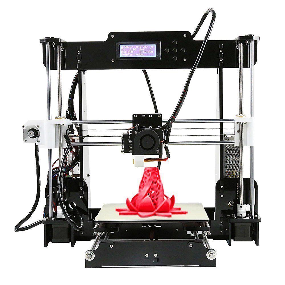 Imprimante 3D A8 acrylique Prusa i3 Reprap MK8 bricolage MK2A radiateur LCD contrôleur 220*220*240mm Impresora 3d