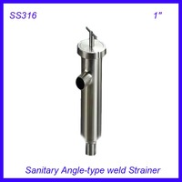 1'' Sanitary Stainless Steel SS316 Angle type Filter Strainer Filter f Beer/ dairy/ pharmaceutical/beverag /chemical industry