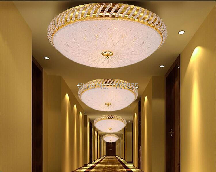 Free Shipping Gold Crystal Pineapple Ceiling Light Flush