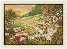 Schöne Blumen (2), gezählt gedruckt auf stoff DMC 14CT 11CT Kreuzstich kits, stickerei handsets Wohnkultur