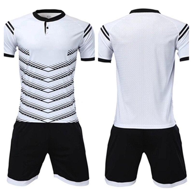 Vigilancia fútbol 2018 jerseys del fútbol de los hombres fijó en blanco  traje de entrenamiento de c5c043f026b80