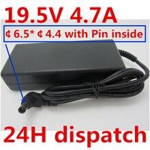 HSW 19,5 V 4.7A адаптер переменного тока Питание Зарядное устройство для SONY VAIO SVE151D11L SVS131B11L VGN-S550 PCG-61411L VGP-AC19V41 VGP-AC19V51