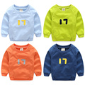 2016 Autumn Fashion New Children'S Clothing Boys O-Neck Long Sleeve Digital  17 Sweatshirt Handsome Tops Free Shipping