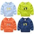 2016 Autumn Fashion New Children'S Clothing Boys O-Neck Long Sleeve Digital  17 Sweatshirt Handsome Tops Free Shipping