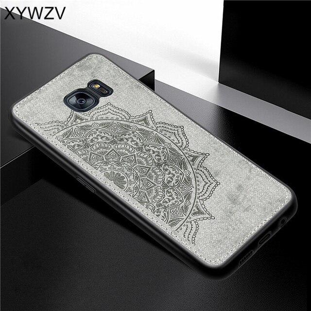 Para Samsung Galaxy S7 borde caso de suave silicona de textura de tela funda para Samsung Galaxy S7 borde cubierta para Samsung S7 borde
