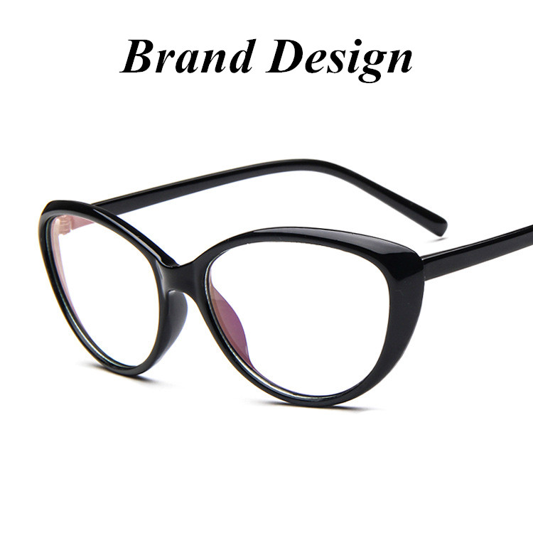 brand design cat eyeglass eyewear frames eye glasses frames for women computer plain mirror spectacle frame