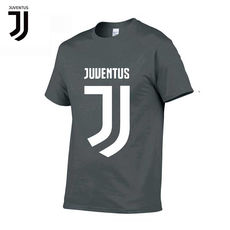 Team Sports Juventus New Juve Men Cotton T-shirt Jacket Team Logo Serie A Football Male Training Swaetshirts Mens Short-sleeved T-shirts Soccer Jerseys