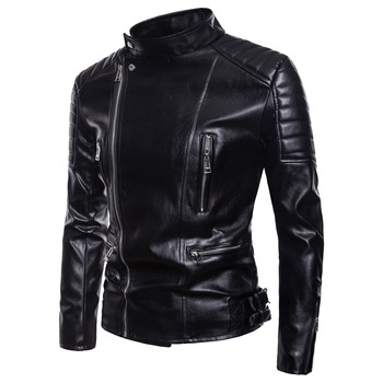 Men Motorcycle high-grade PU Leather Jackets Man Streetwear Dropshipping top Coat Mans Bomber Suits Windbreaker clothes big size