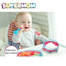 Suction Toddler Spill Proof Feeding Set Baby Non Slip Dishes Set Leak Proof Dinnerware Easy Scoop Design Rotate 360 Degrees