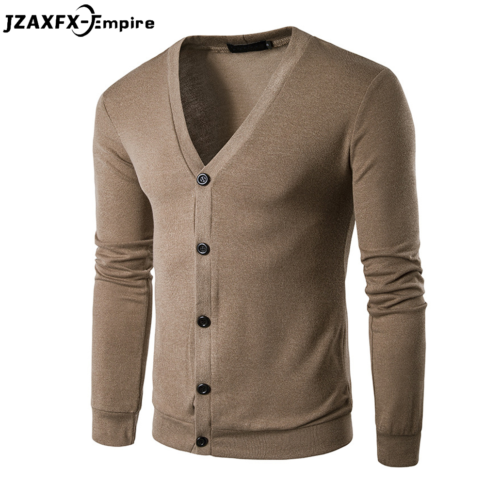 New Arrival Men Casual Cardigan V Neck Male Solid Sweater Brand-Clothing High Quality Mens Fashion Pullovers ...
