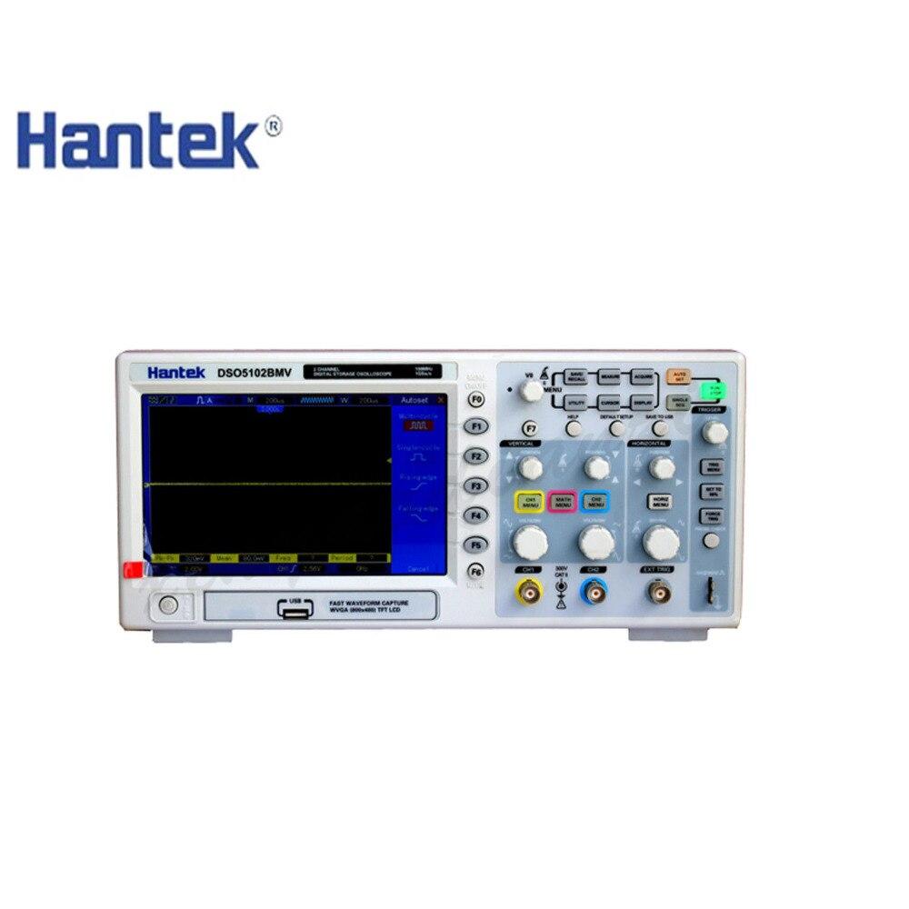 Hantek DSO5102B Numérique Oscilloscope De Stockage 2CH 100 mhz 1 m Mémoire profondeur 1GSa/s 25GSa/s Paillasse Scopemeter mieux than5102P