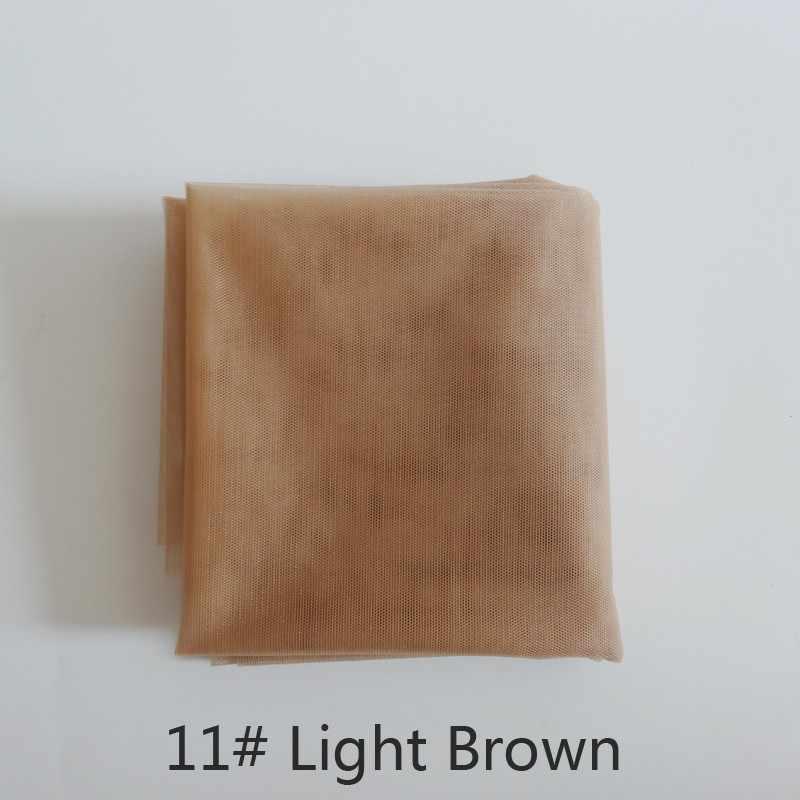 Luz marrom 1 jarda 1 laço suíço padrão net para fazer peruca peruca peruca fechamento superior fundação acessórios de cabelo monofilamento