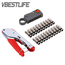 VBESTLIFE Compression Coaxial Cable Manual Crimping Tool Set Kit For RG59 RG6 F Coax Cable Crimper Free Shipping(China)