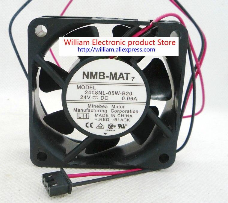 Новый оригинальный инверторный охлаждающий вентилятор Nmb 60*60*20 мм 24 В 0,06a 2408NL-05W-B20 2408NL-05W-B29
