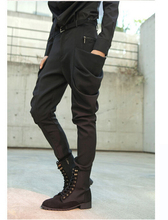 New 2015 hot Summer feet harem pants tide Youth male Slim thin boots pants non-mainstream men's hairstylist nightclub trousers