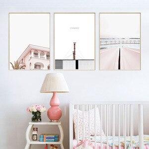 Image 3 - Póster Rosa Vintage carteles nórdicos e impresiones cuadro sobre lienzo para pared de chimenea para decoración de sala de estar sin marco