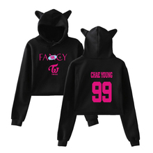Leisure HIP HOP Fancy print Cat Hoodies for Women summer pop Sweatshirt Sexy K-pop cat hooded Harajuku