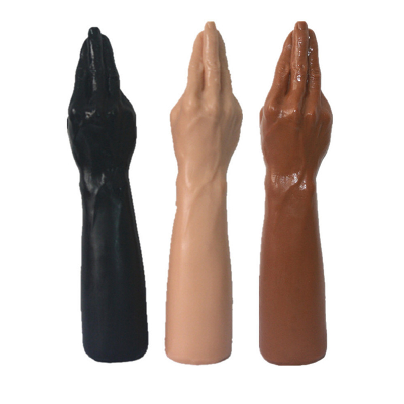 14 inch Real Extreme Realistic Hand shape Dildos Soft Ribbed Male Artificial Penis for Women Sex