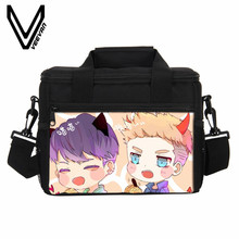 VEEVANV Cartoon Printing Lunch Bags Women Portable Insulated Hangbag Food Cold Bags Thermo Lunch Box Children Picnic Bag Thermal