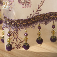 Top Quality 1 Meter Price 12 Options Exquisite Crystal Ball Lace Beads Chain Curtain Decorative Window