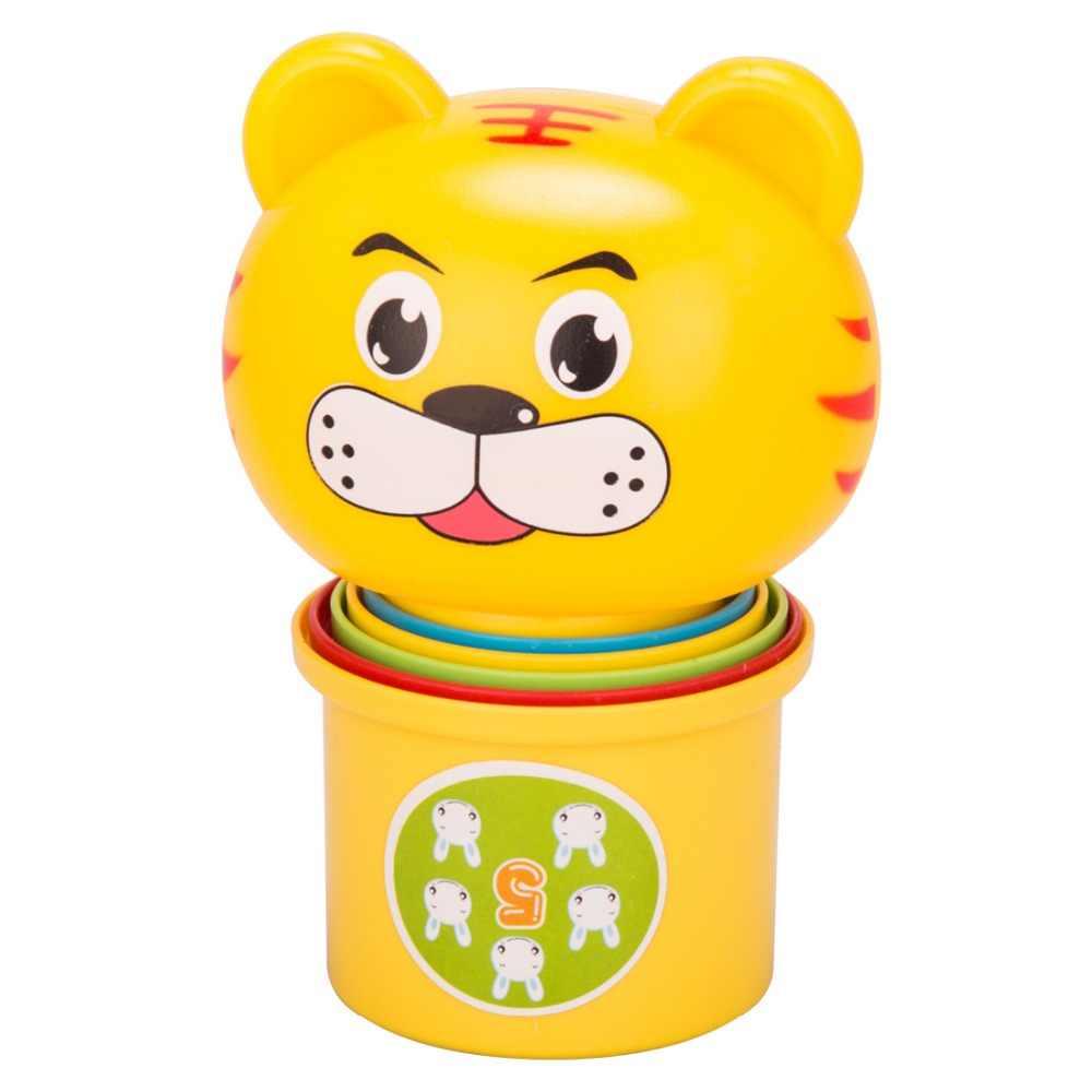 Детские игрушки Fun DIY Красочные сложены чашки милый музыкальный понять колокольчик развивающие мяч кровать колокол Дети Детские игрушки Погремушка